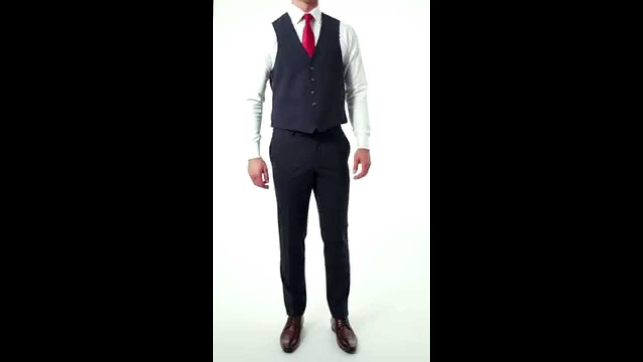 2bfe6eb41152 Bäumler Wool Rich Navy Blue Slim Fit Suit Waistcoat - YouTube