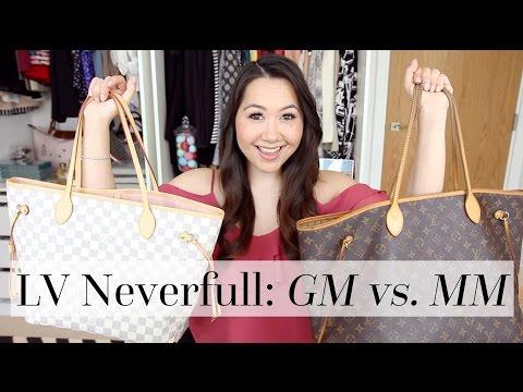 Louis Vuitton Neverfull GM vs. MM Comparison   Chase Amie