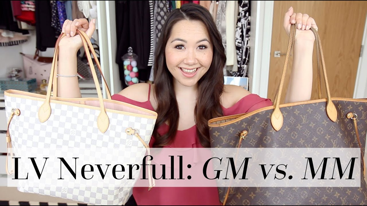 Louis Vuitton Neverfull Gm Vs Mm Comparison Chase Amie Youtube