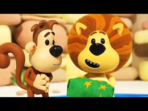Raa Raa The Noisy Lion | Ooo Ooo's Wriggly Jiggly Game | English Full Episodes | Kids Cartoon 🦁