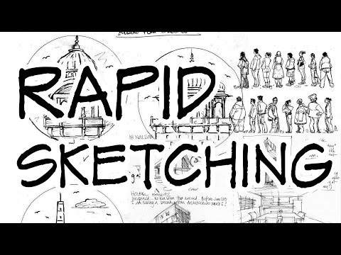 Rapid sketching - Architecture Daily Sketches