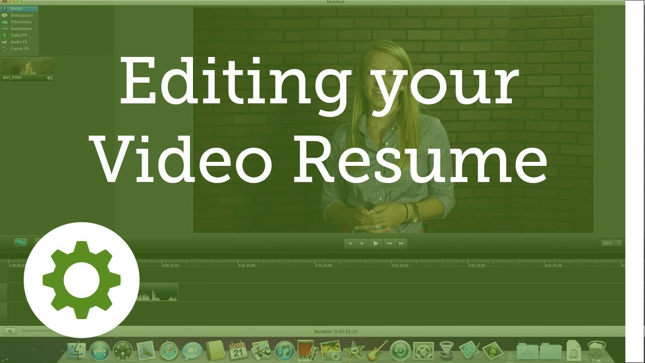 Getting Started Editing Your Video Resume Youtube