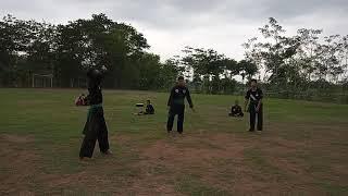 PAGAR Nusa Kuker's latihan sambung siswa vs anggota tetap
