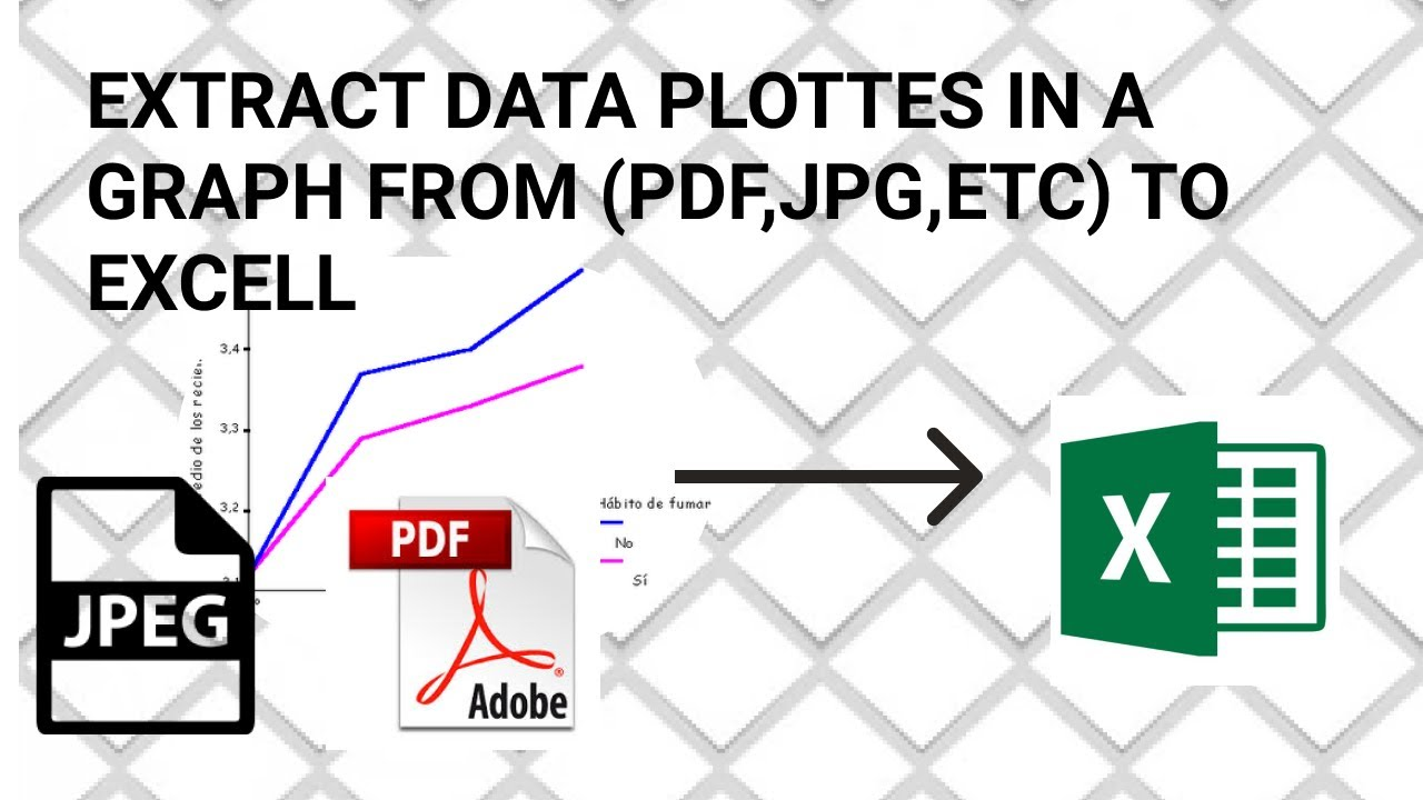 How to Extract data from a Graph from PDF or IMAGE (JPG,ETC) to EXCELL in 5 Min