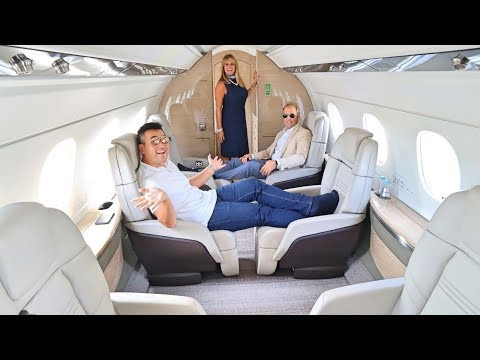 My $17 Million Brand New Private Jet ride - Embraer Praetor