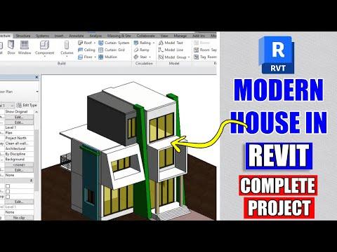 Modern House Design In Revit Architecture Tutorial #8