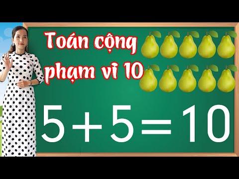 Toán cộng phạm vi 10 |Học toán lớp 1 - bài 6
