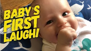 BABY'S FIRST REAL LAUGH (10 Weeks old!)