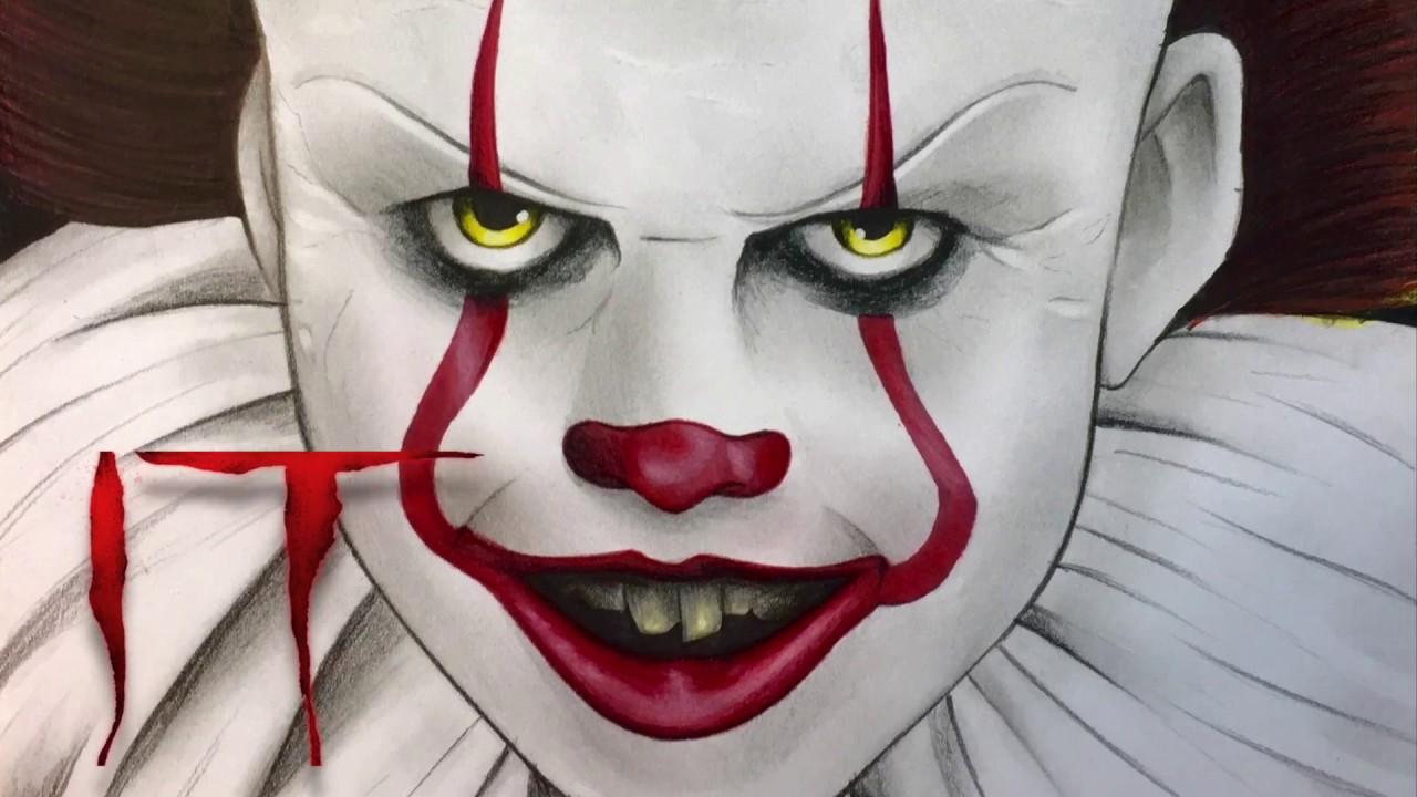 Face Pennywise Drawing Easy Step By Step ~ Drawing Easy