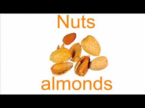 British English Vocabulary about Fruit and Nuts - Learn English