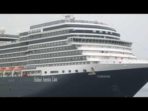 Brilliance of the seas and Eurodam departing Tallinn