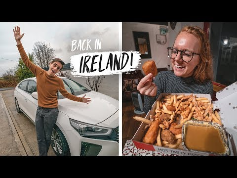 """Our Ireland Road Trip BEGINS! + Trying a """"Spice Bag""""?? 🇮🇪"""