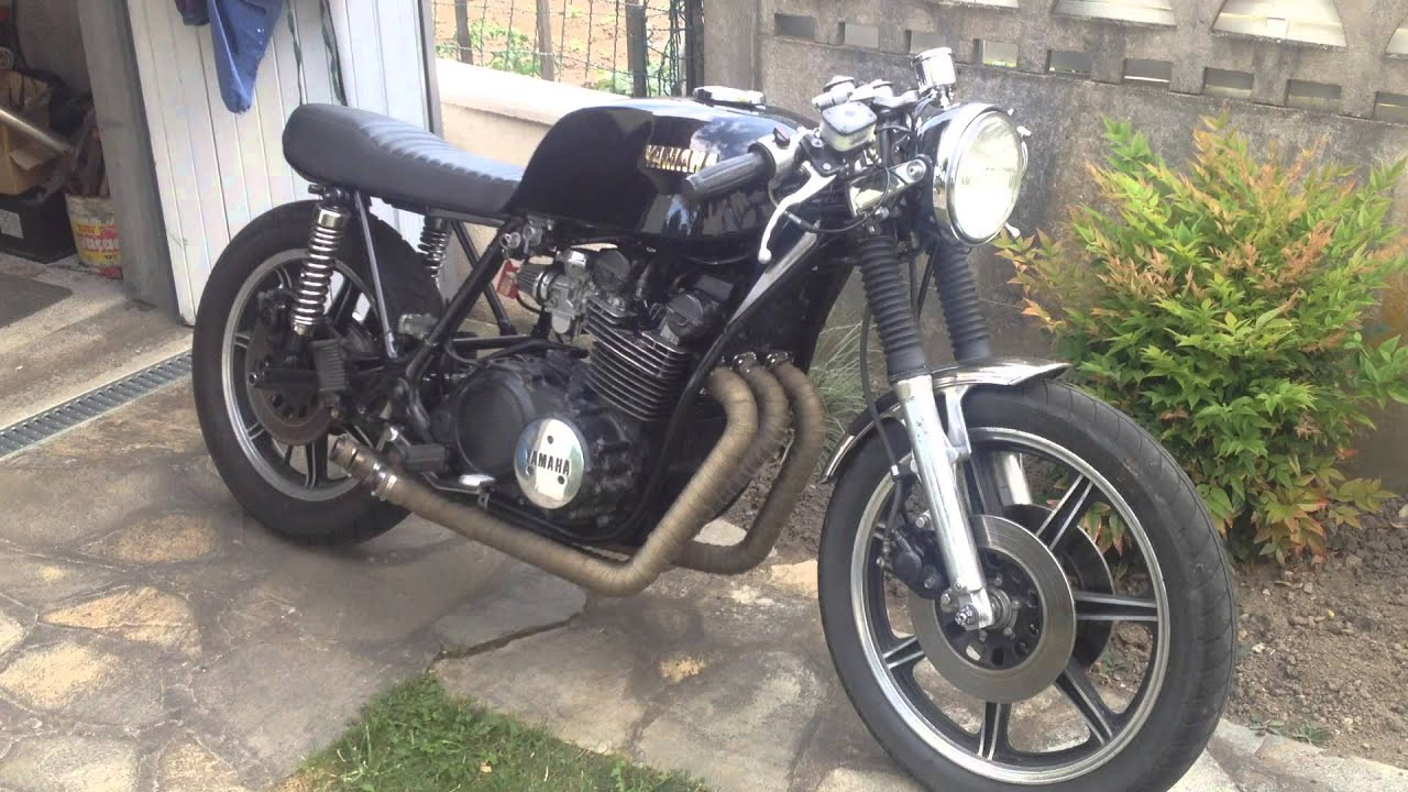 yamaha xs 750 cafe racer exhaust - youtube
