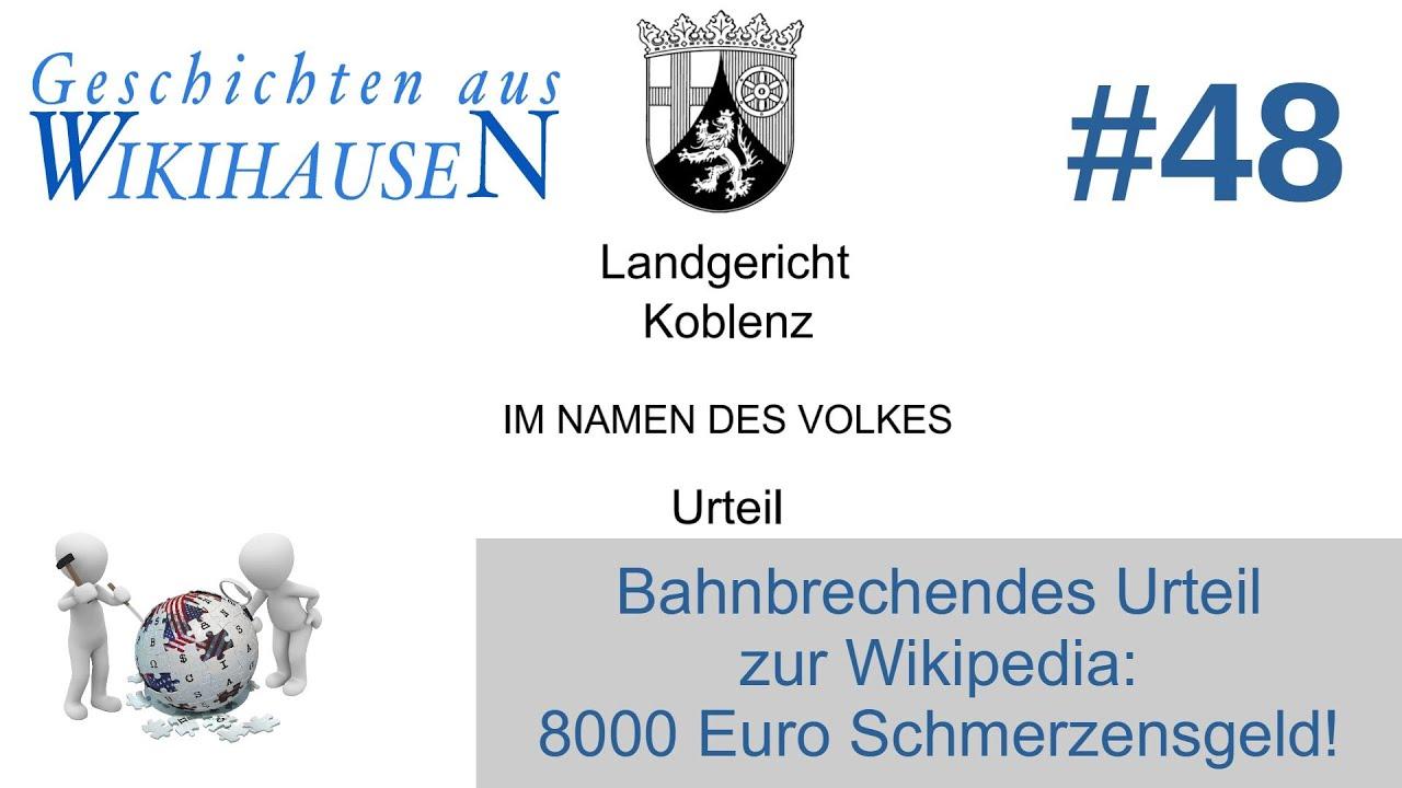 Bahnbrechendes Urteil zur Wikipedia: 8000,- Euro Schmerzensgeld! | Nr. 48 Wikihausen