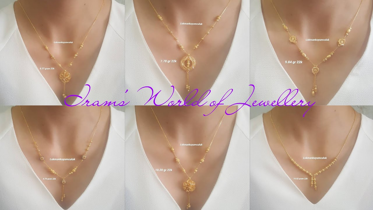 Latest Light Weight Gold Chain Necklace Design With Weight | Gold Chain Necklace