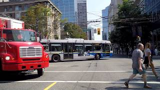 Driving in Vancouver Canada - CAMBIE Street - City Tour 2018