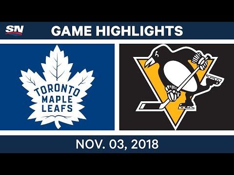 NHL Highlights | Maple Leafs vs. Penguins – Nov. 3, 2018