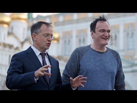 Тарантино в Кремле. Мединский провел Тарантино экскурсию по Московскому Кремлю.