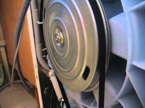 lave linge bruit intermittent pendant le lavage video4 zoom poulie youtube. Black Bedroom Furniture Sets. Home Design Ideas