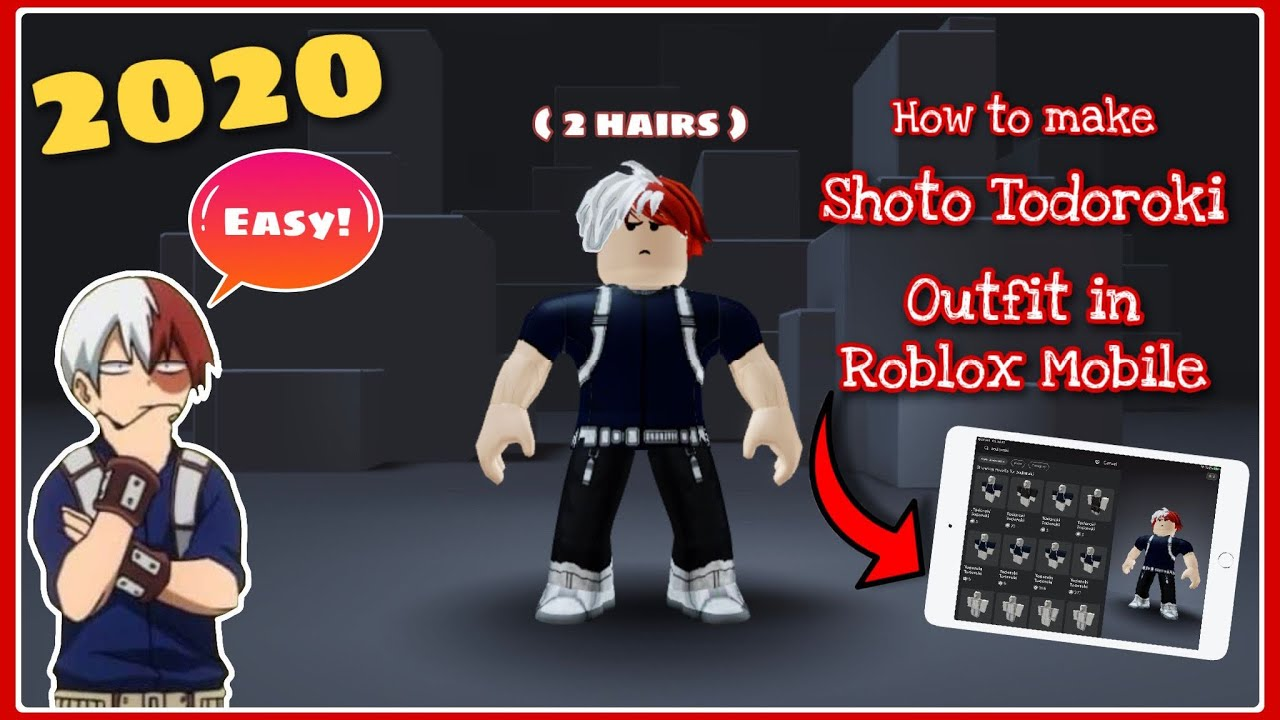 How To Make Todoroki Outfit In Roblox Youtube