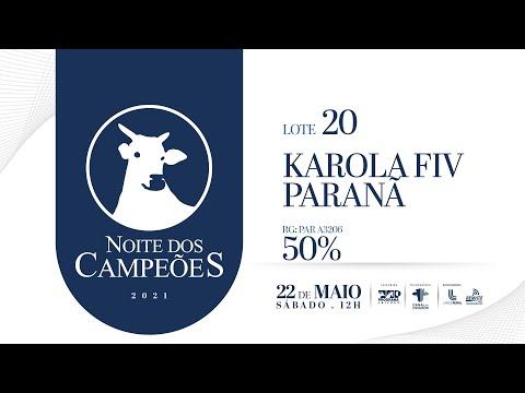 Lote 20   KAROLA FIV PARANA   PAR A3206 Copy 1