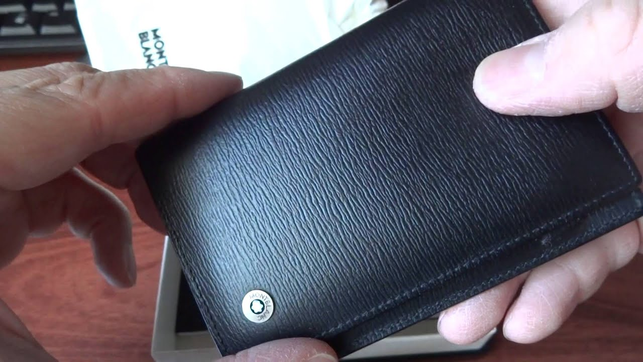 REVIEW on MONTBLANC Leather Goods 4818 Westside Business Card Holder ...