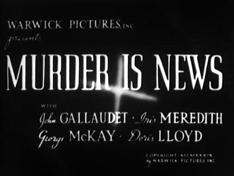 Mystery Drama Movie - Murder Is News (1937)