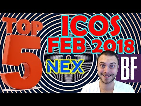 ⭐️ Top 5 Cryptocurrency ICOs: February 2018