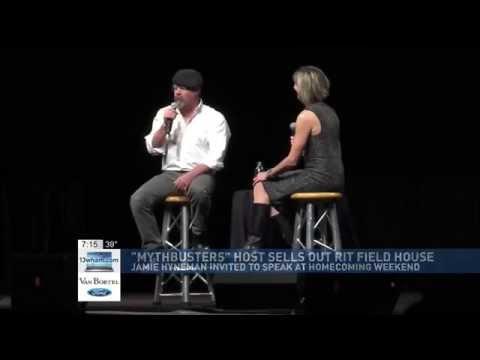 RIT on TV: MythBuster Jamie Hyneman speaks at BrickCity - on WHAM
