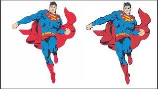 Corel Draw-Como vetorizar uma imagem, o  Superman