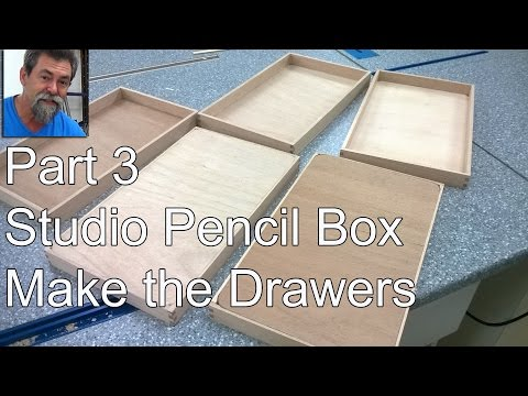 How To | Studio Pencil Box Build 3 | Timber Drawers | DIY | dave stanton