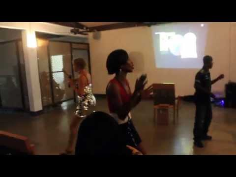 Karaoke Competition at the Grenada Yacht Club - Happy