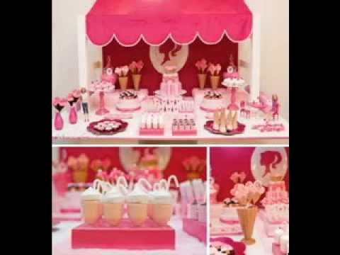 Barbie birthday party decorations ideas YouTube