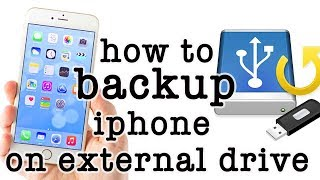 how to take backup of iphone on external drive | apple script link in description