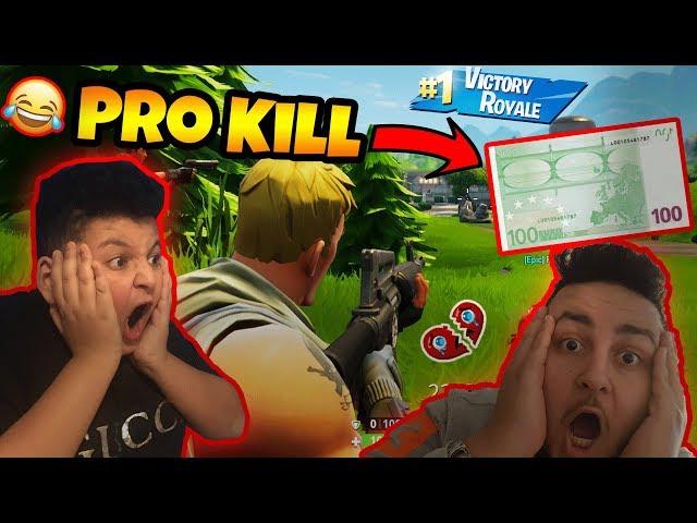 PRO KILL 100€ !!! (und ich pranke ihn..)   Fortnite   Can Wick