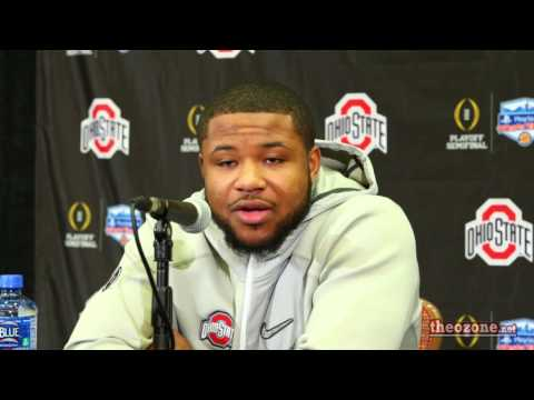 Mike Weber Talks During Day One Interviews at the Fiesta Bowl