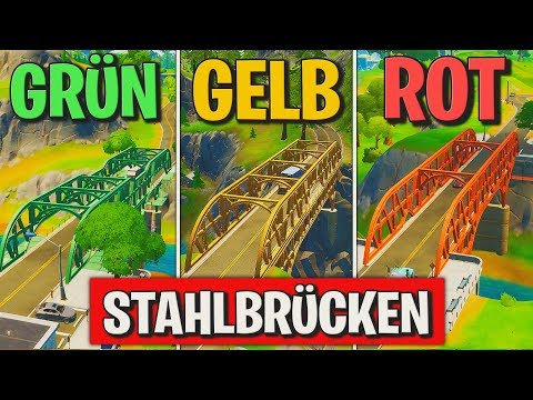 Fortnite: Tanze auf der grünen, gelben und roten Stahlbrücke! 🌉 Bevorstehendes Chaos Brücken | Detu