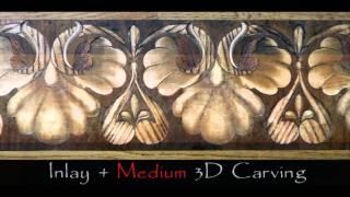 3d Sculpted Wood Flooring Designs & Borders