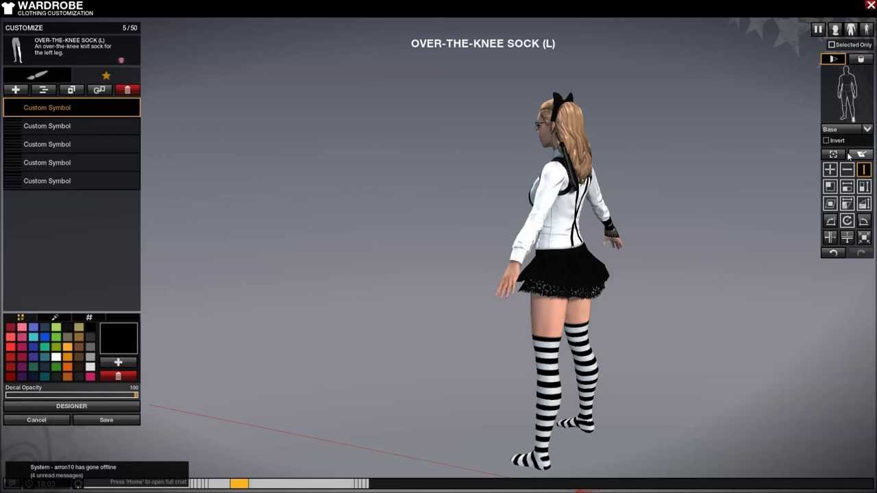 TUTORIAL How to make striped kneesocks in APB Reloaded