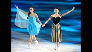 髪型をボブにした浅田真央と姉、浅田舞がTHE ICEの「アナと雪の女王」で...