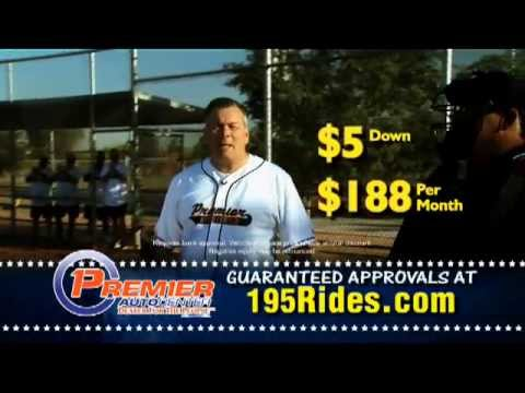 Custom Baseball Jersey's Featured on Premier Auto Center's TV Commercial