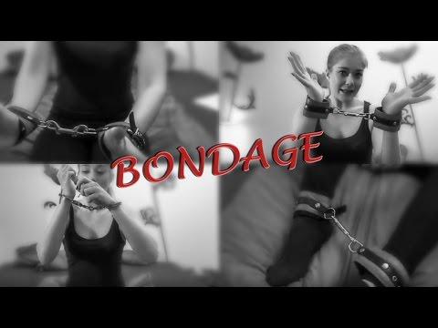BONDAGE Fesselalternativen: Polizei Handschellen und Leder Manschetten