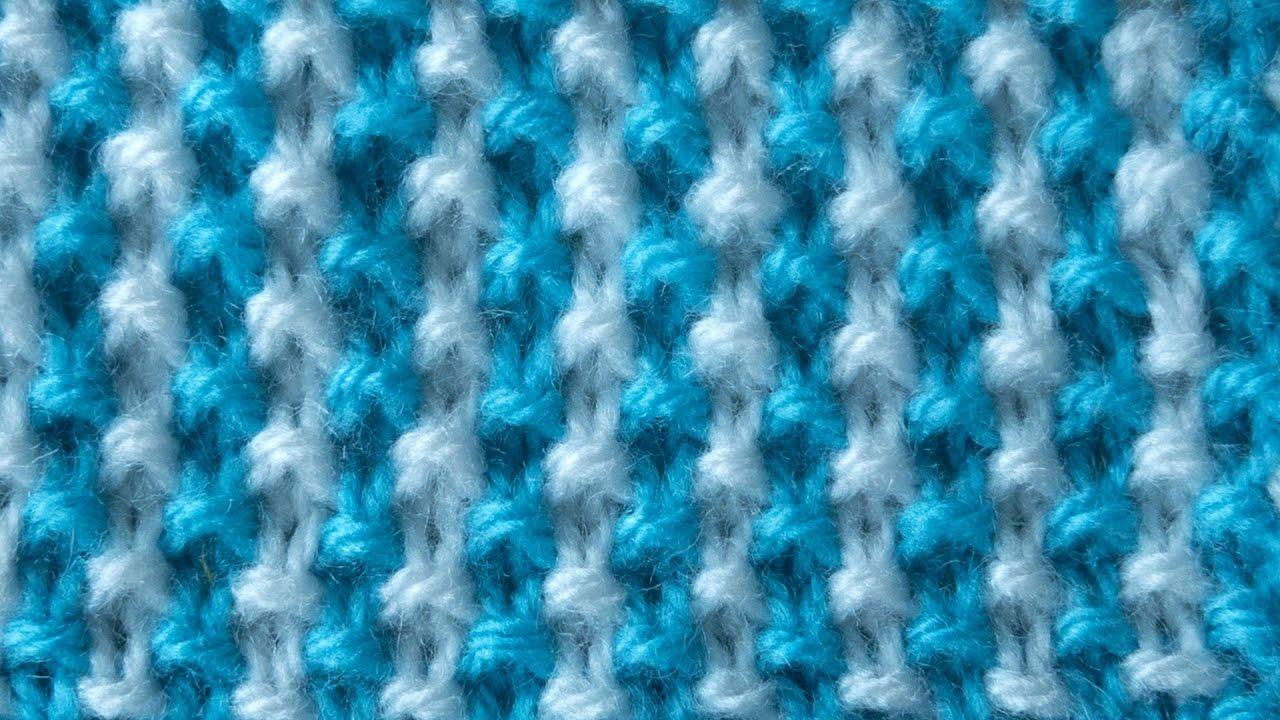 Вязание спицами двухцветные узоры фото