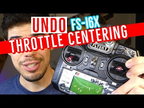 FS-i6X - How To Undo Throttle Auto Center - Complete DIY Mod Tutorial - Flysky Transmitter