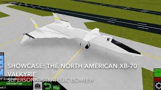 Roblox vitrine: Le Nord-Américain XB-70 Valkyrie