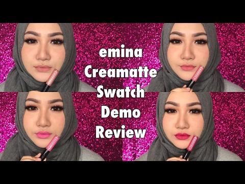 emina-creamatte-swatch-+-demo-+-review-|-bahasa-indonesia-|-diendiana