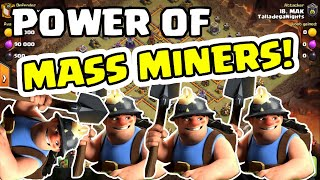 CLASH OF CLANS - TH10 Mass Miner 9 Pack - Same Troop Combo - TRY IT OUT!