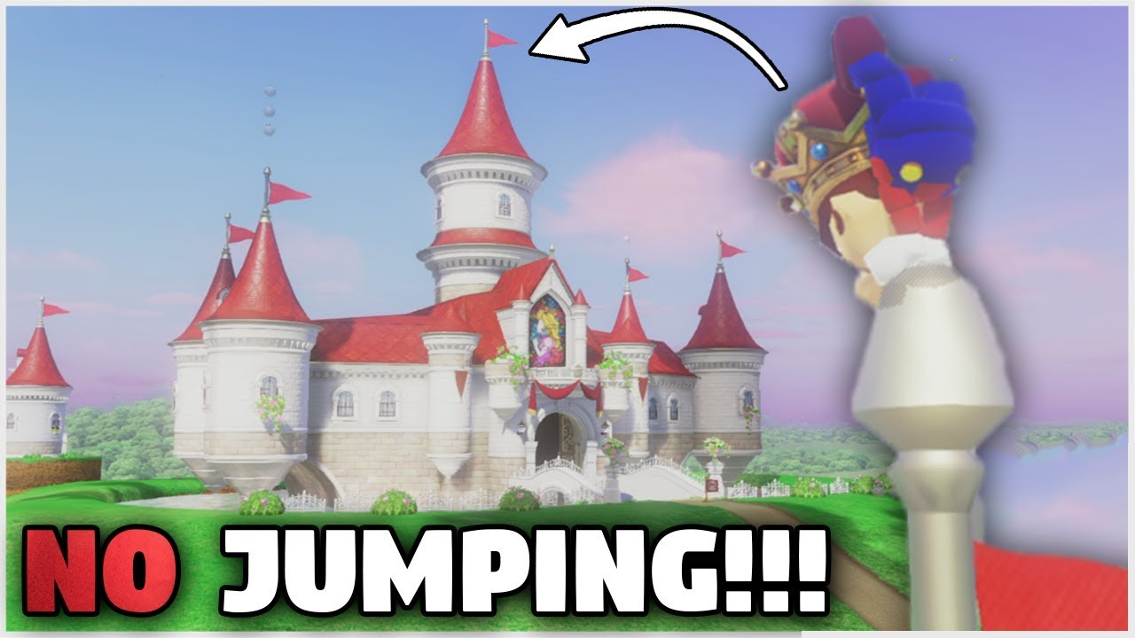 Getting To The Top Of Peach S Castle Without Jumping Super Mario Odyssey