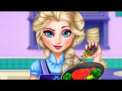 Disney Frozen Game - Princess Elsa Real Cooking - Frozen Movie Game for Kids