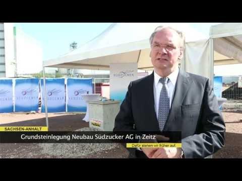 Grundsteinlegung Südzucker AG Zeitz Videobotschaft Reiner Haseloff 2014 - 23
